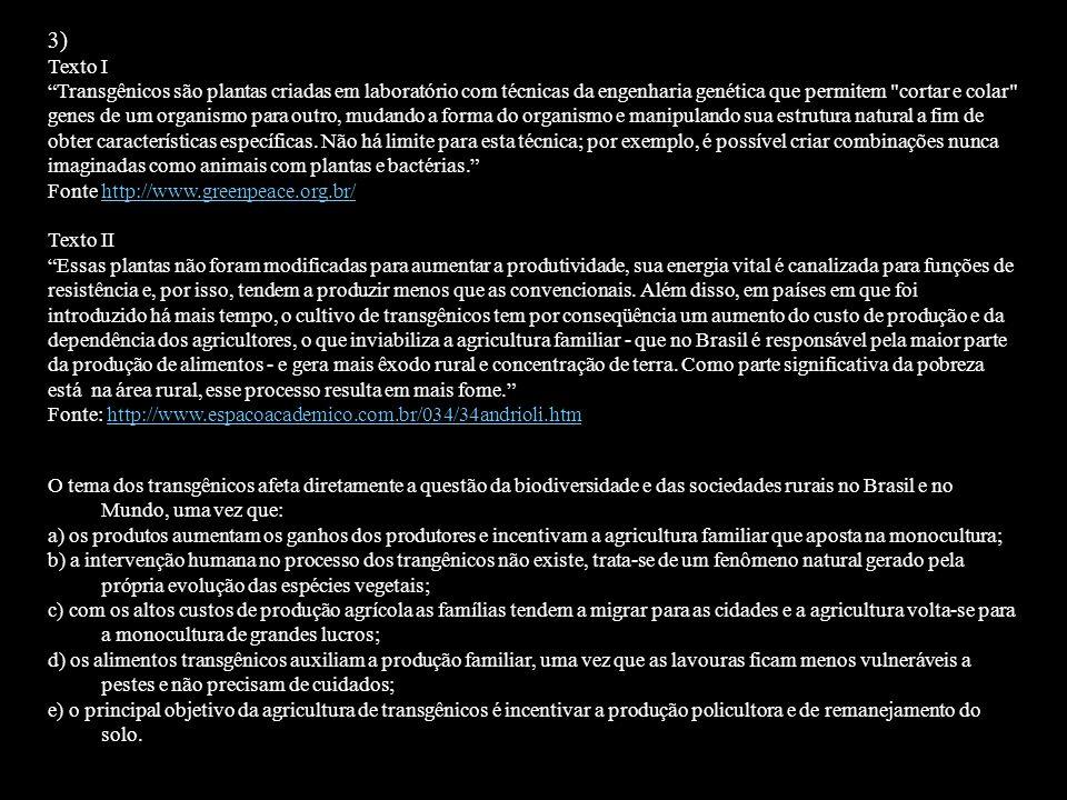3) Texto I.
