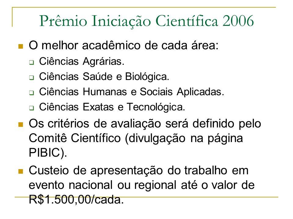 Prêmio Iniciação Científica 2006