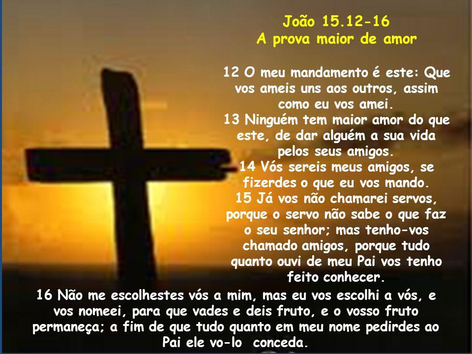 João 15.12-16 A prova maior de amor