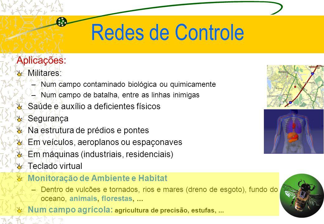 Redes de Controle Aplicações: Militares: