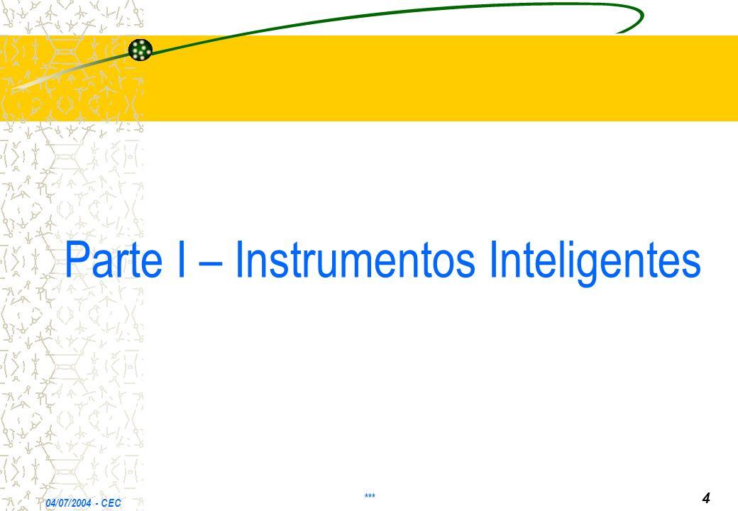 Parte I – Instrumentos Inteligentes