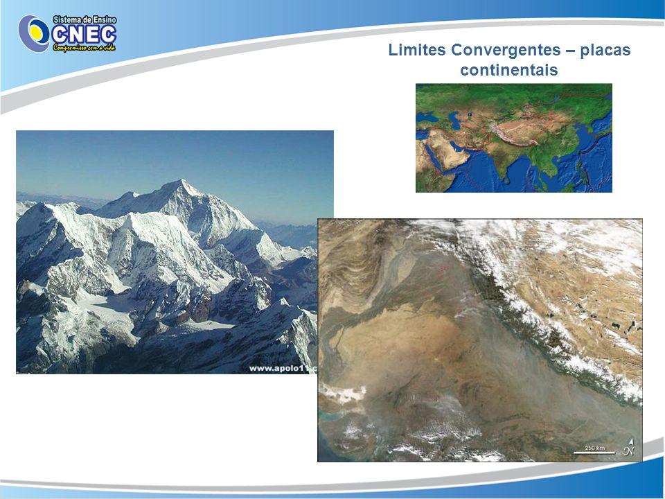 Limites Convergentes – placas continentais