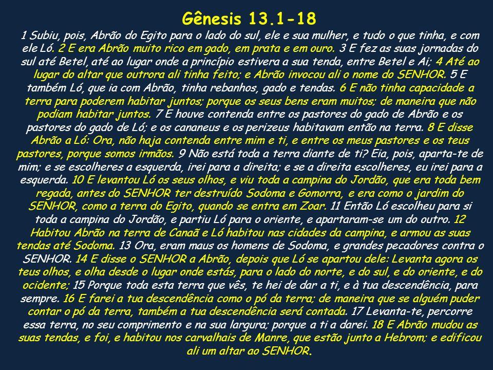 Gênesis 13.1-18
