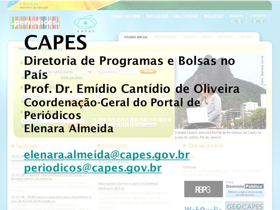 CAPES Diretoria de Programas e Bolsas no País