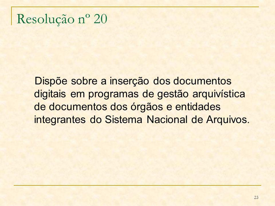 Resolução nº 20