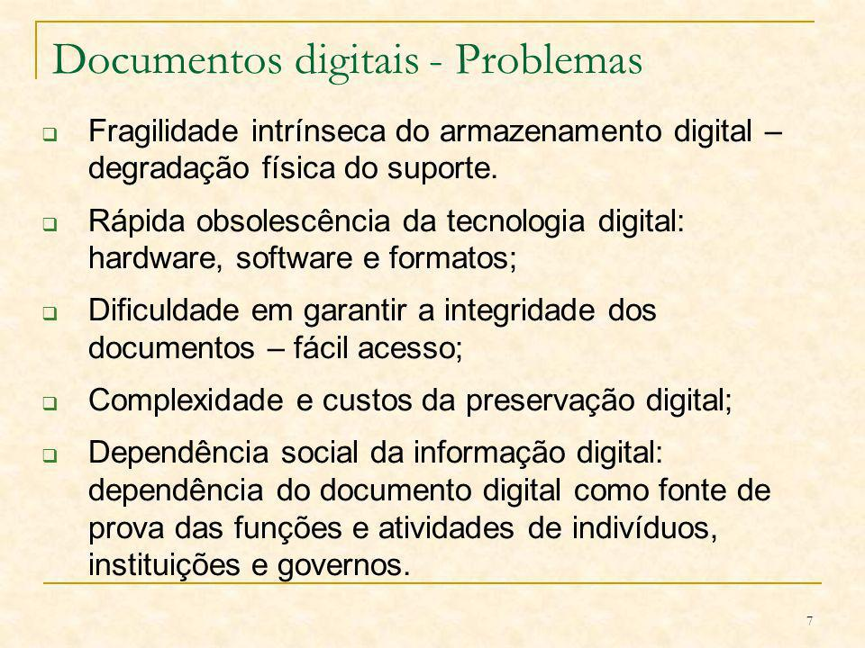 Documentos digitais - Problemas
