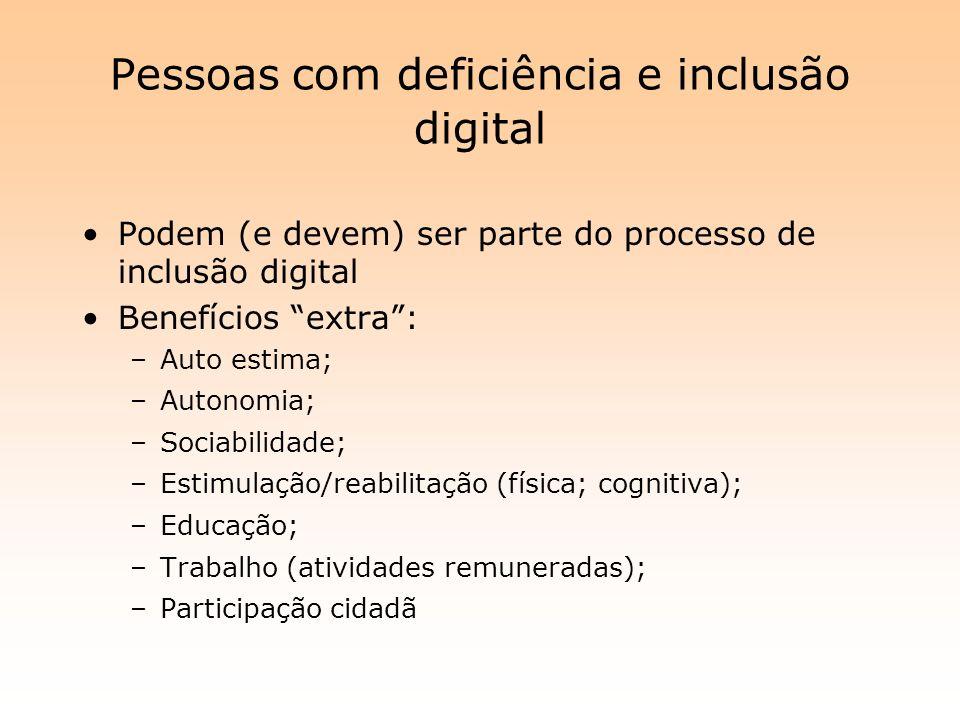 Pessoas com deficiência e inclusão digital
