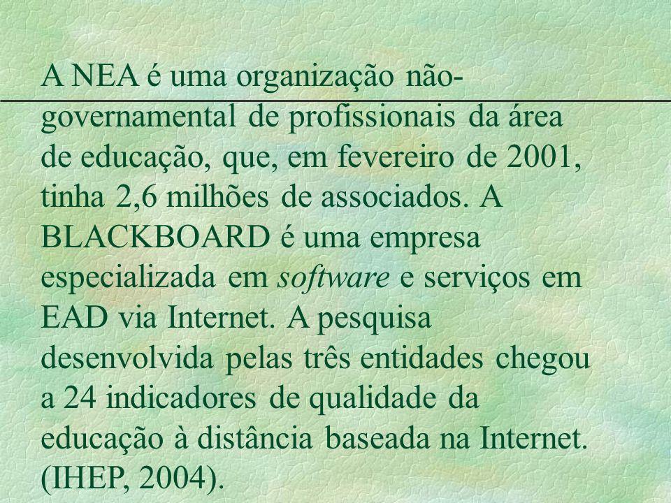 A NEA é uma organização não-governamental de profissionais da área de educação, que, em fevereiro de 2001, tinha 2,6 milhões de associados.