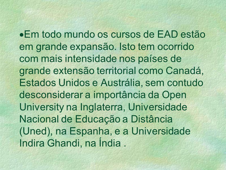 Em todo mundo os cursos de EAD estão em grande expansão