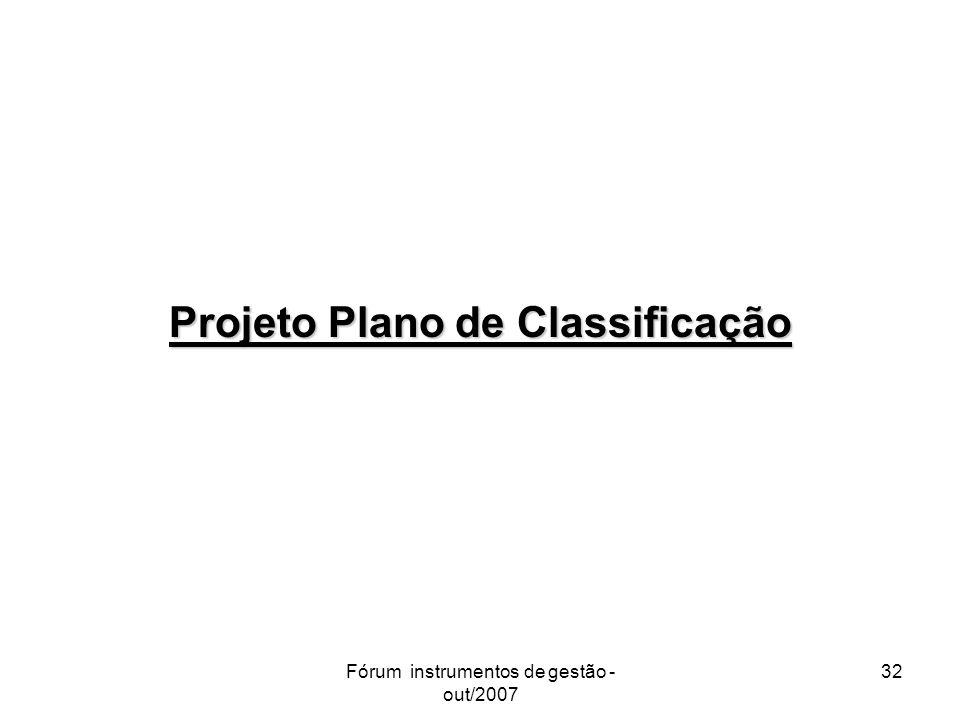 Projeto Plano de Classificação