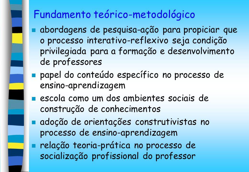 Fundamento teórico-metodológico