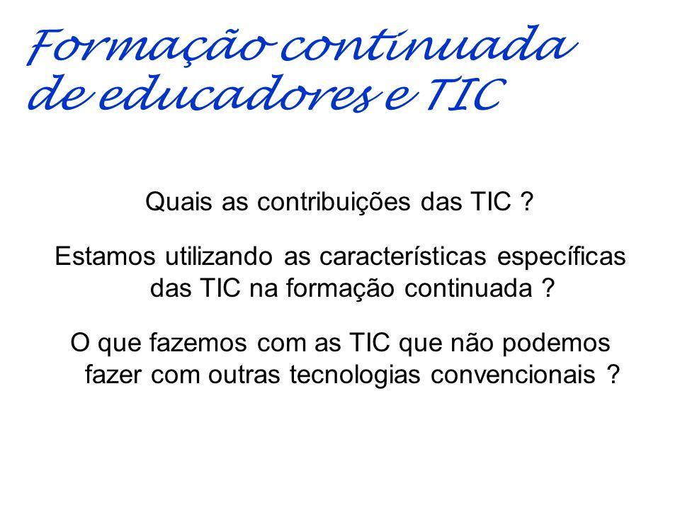 Quais as contribuições das TIC