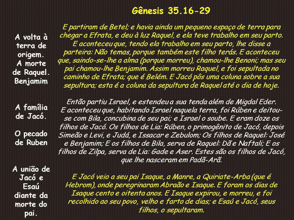 A união de Jacó e Esaú diante da morte do pai.