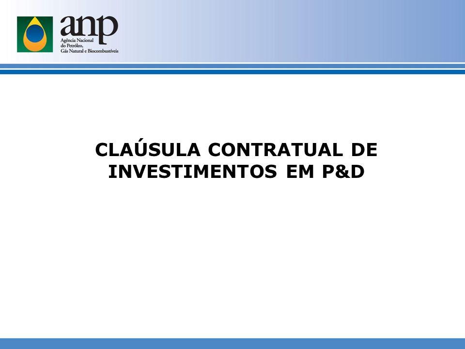 CLAÚSULA CONTRATUAL DE INVESTIMENTOS EM P&D