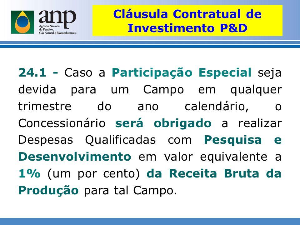Cláusula Contratual de Investimento P&D