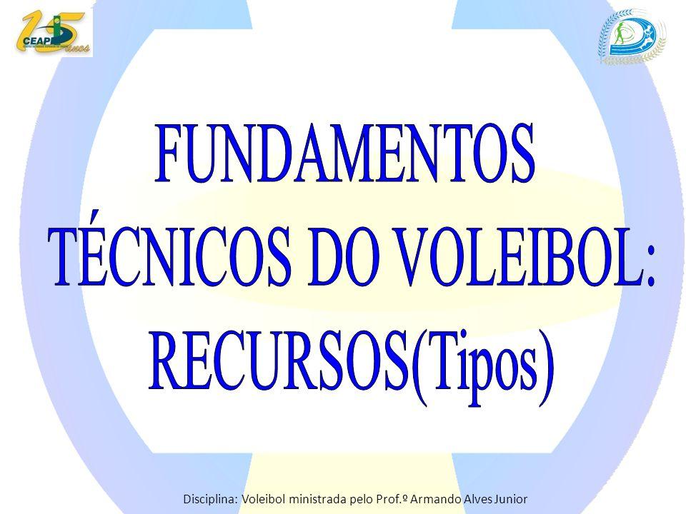 FUNDAMENTOS TÉCNICOS DO VOLEIBOL: RECURSOS(Tipos)