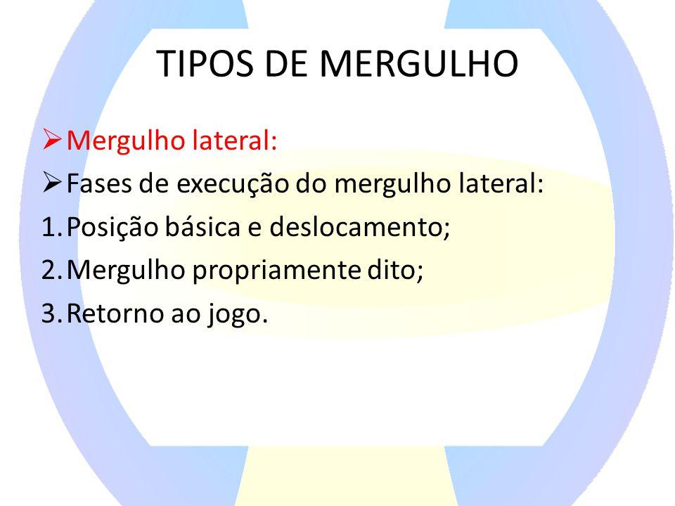 TIPOS DE MERGULHO Mergulho lateral: