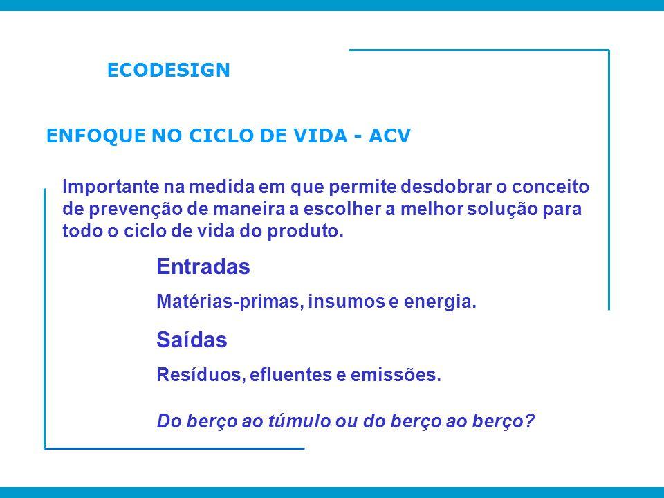 ENFOQUE NO CICLO DE VIDA - ACV