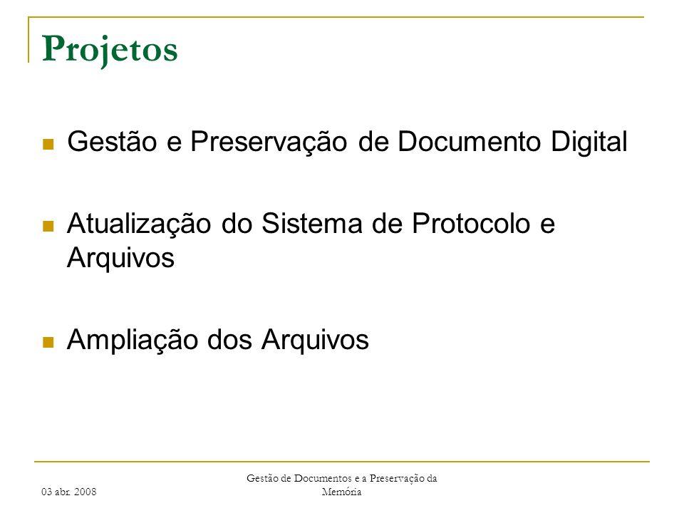 Gestão de Documentos e a Preservação da Memória
