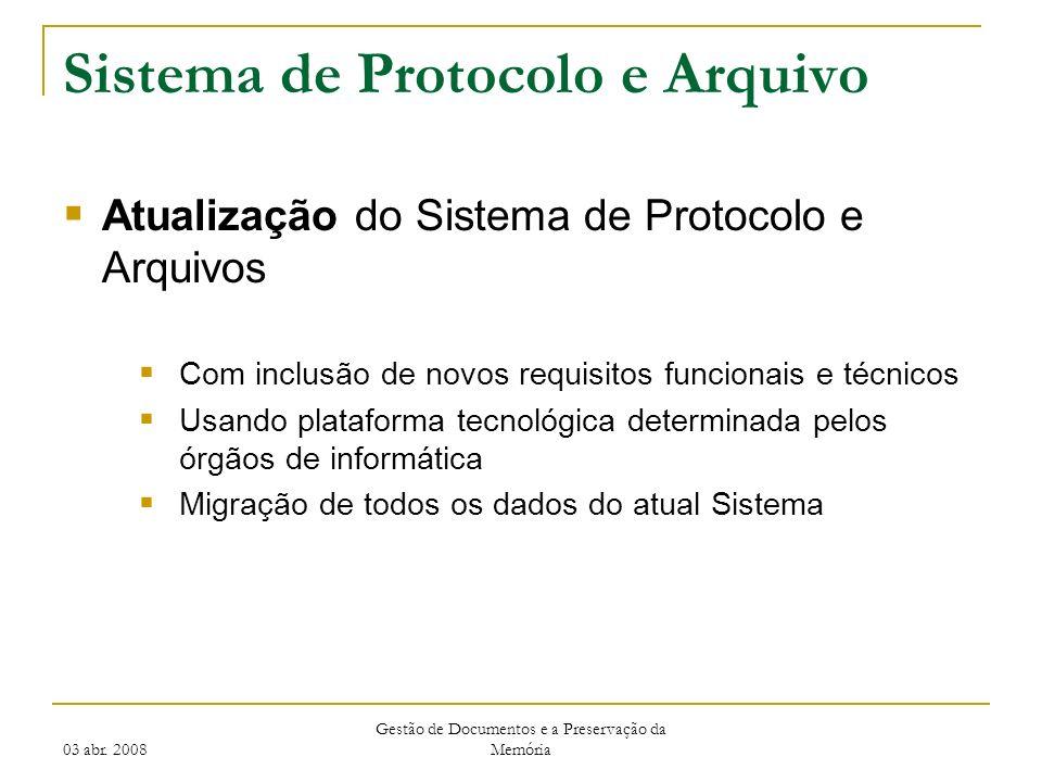 Sistema de Protocolo e Arquivo