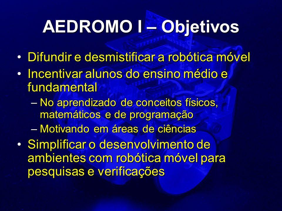 AEDROMO I – Objetivos Difundir e desmistificar a robótica móvel