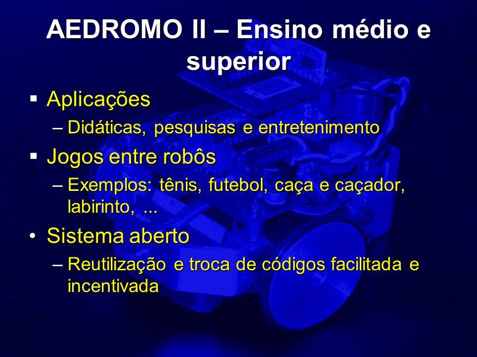 AEDROMO II – Ensino médio e superior