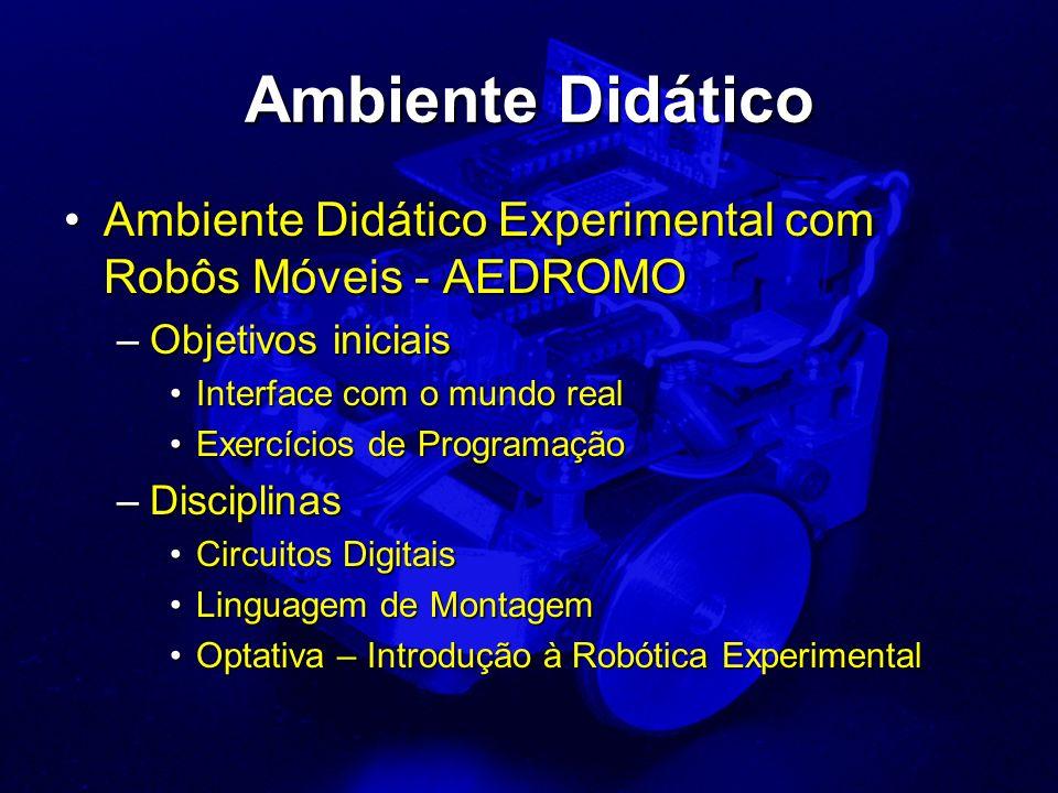 Ambiente Didático Ambiente Didático Experimental com Robôs Móveis - AEDROMO. Objetivos iniciais. Interface com o mundo real.