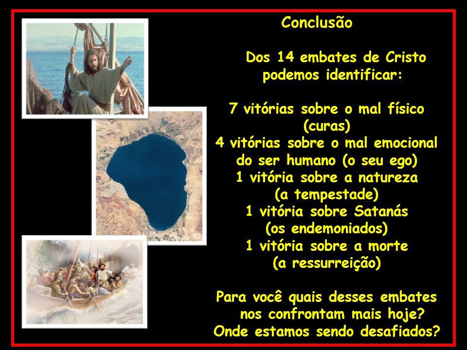 Conclusão Dos 14 embates de Cristo podemos identificar:
