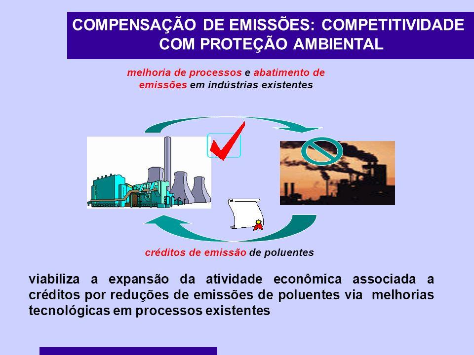 COMPENSAÇÃO DE EMISSÕES: COMPETITIVIDADE COM PROTEÇÃO AMBIENTAL
