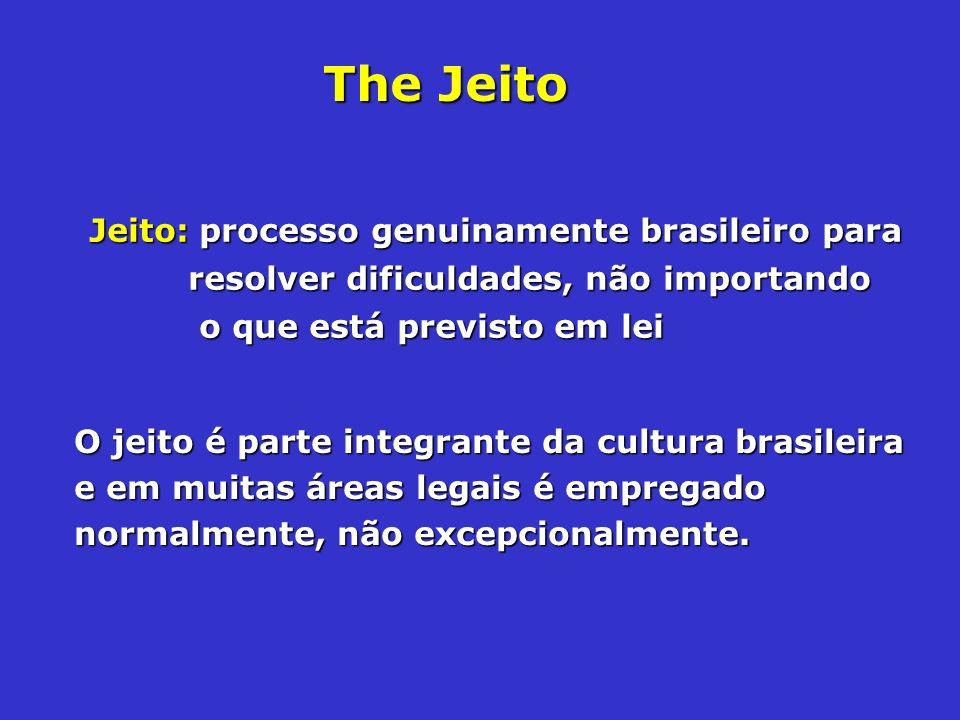 The JeitoJeito: processo genuinamente brasileiro para resolver dificuldades, não importando o que está previsto em lei.