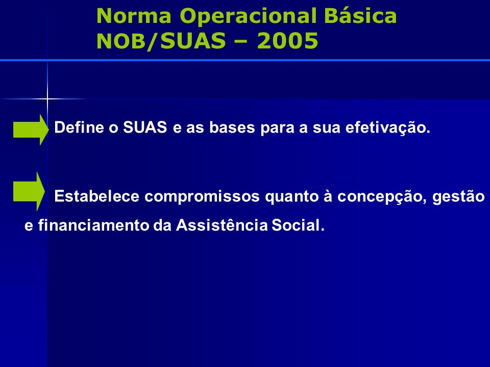 Norma Operacional Básica NOB/SUAS – 2005