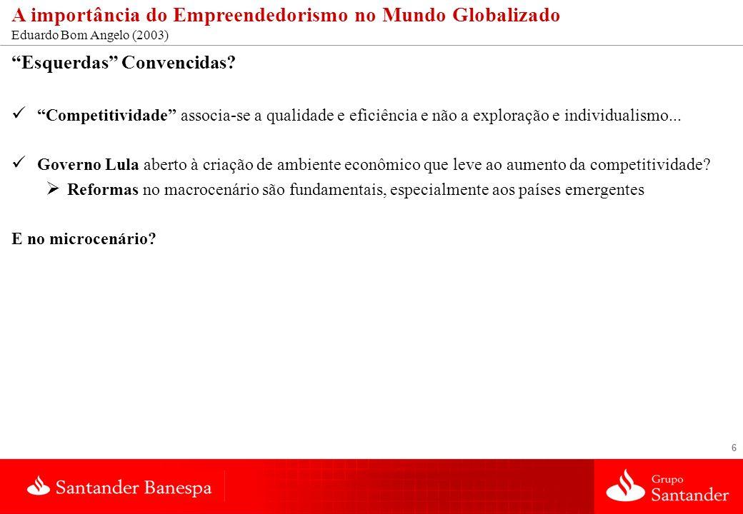 A importância do Empreendedorismo no Mundo Globalizado Eduardo Bom Angelo (2003)