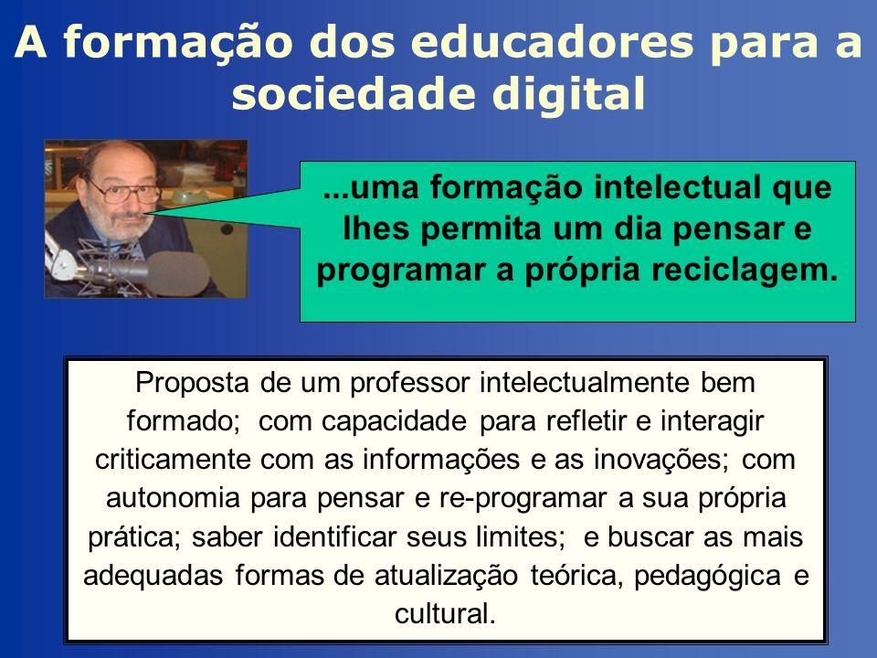A formação dos educadores para a sociedade digital