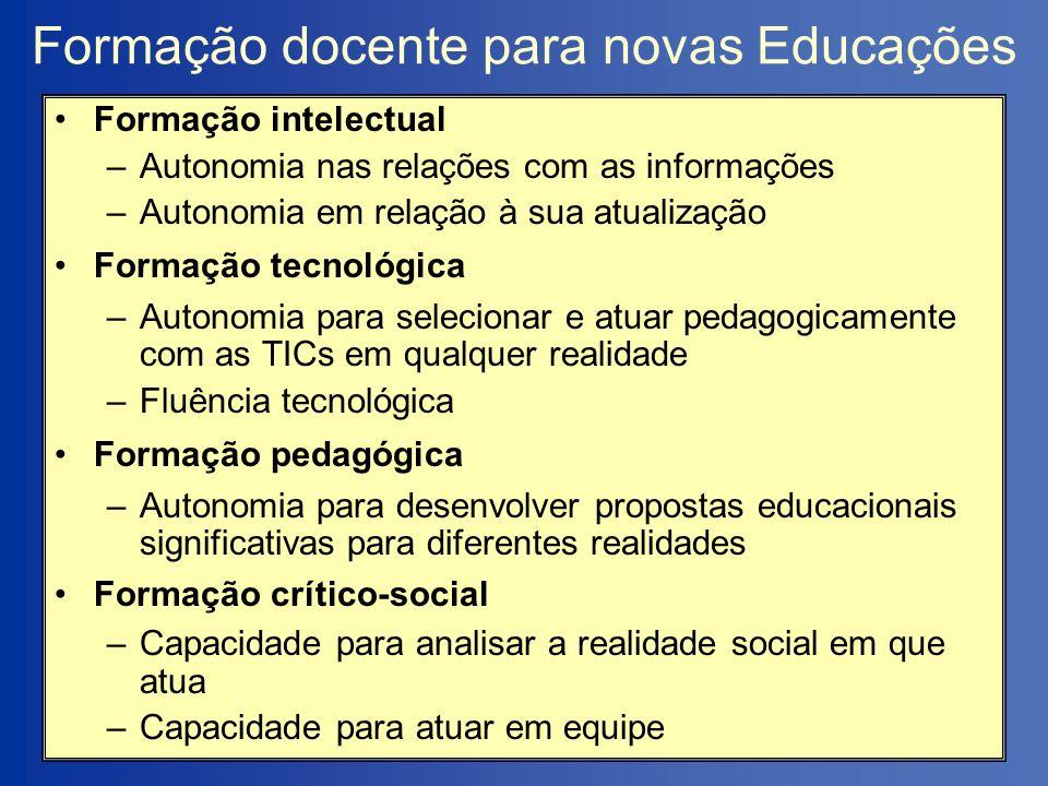 Formação docente para novas Educações