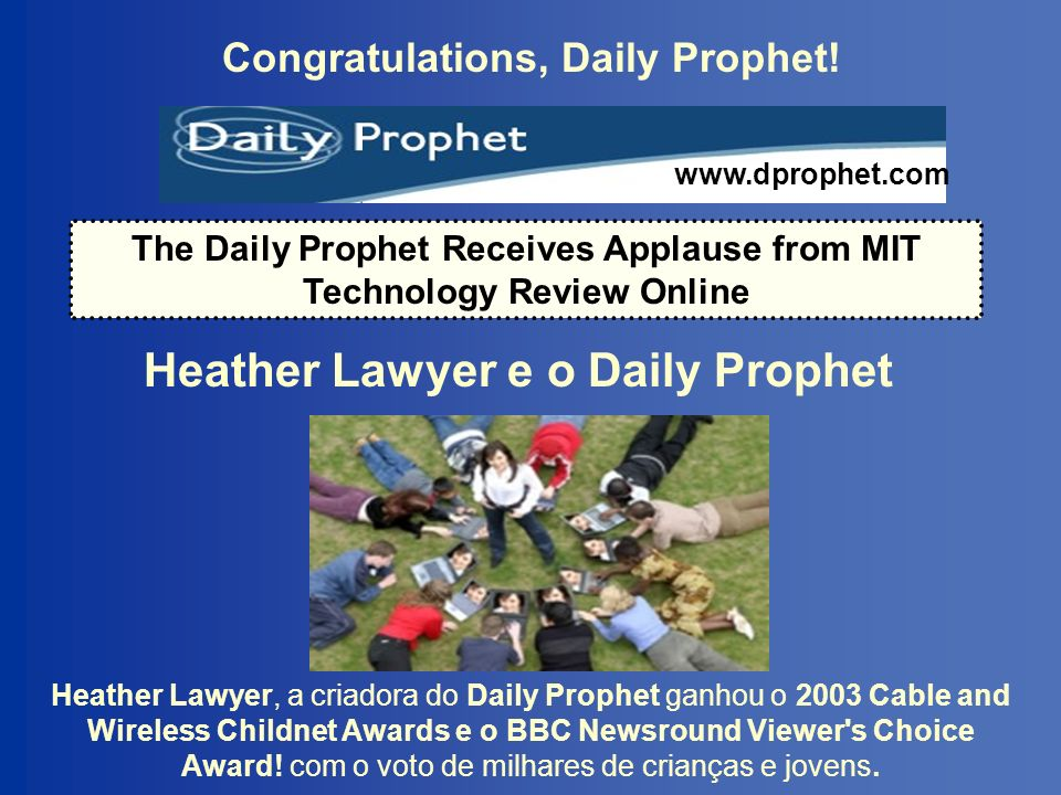 Heather Lawyer e o Daily Prophet
