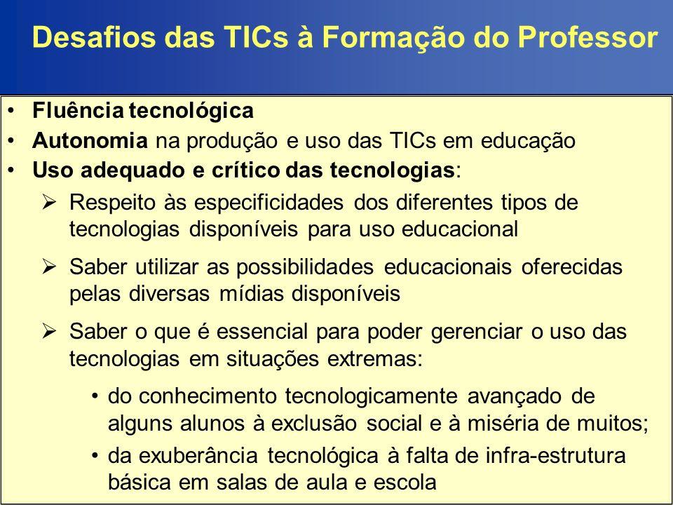 Desafios das TICs à Formação do Professor