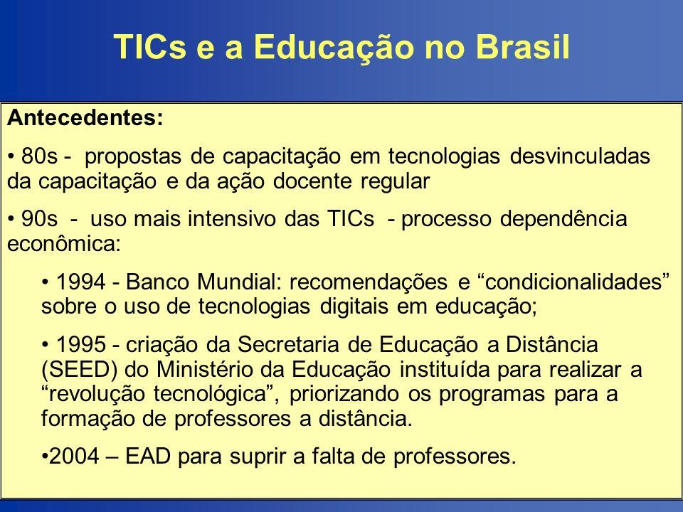 TICs e a Educação no Brasil