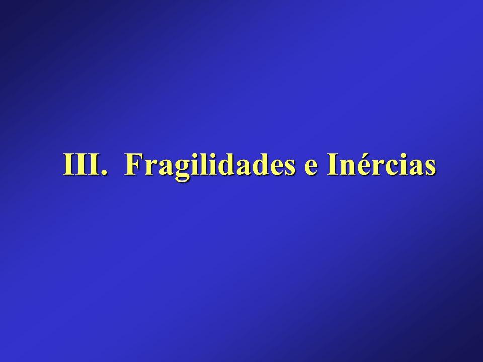 III. Fragilidades e Inércias