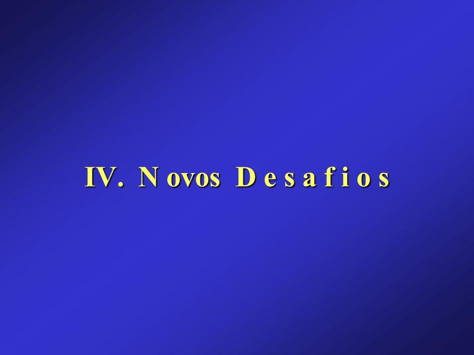 IV. N ovos D e s a f i o s