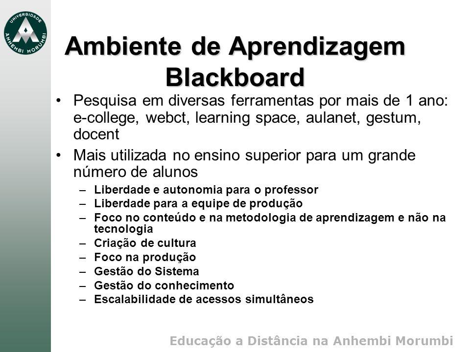 Ambiente de Aprendizagem Blackboard