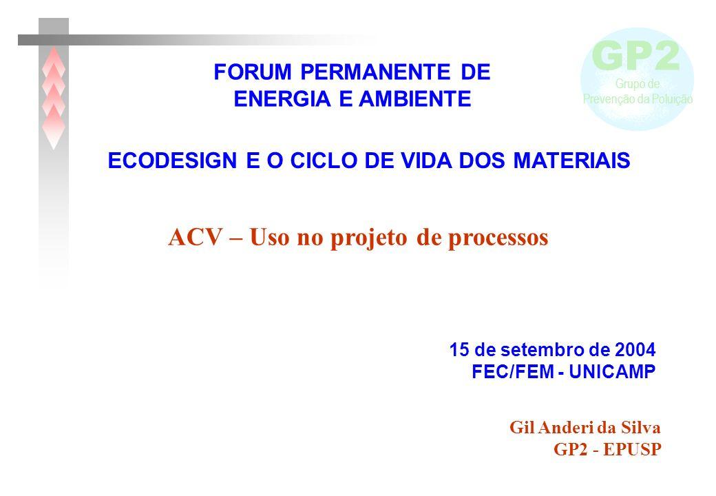 ACV – Uso no projeto de processos