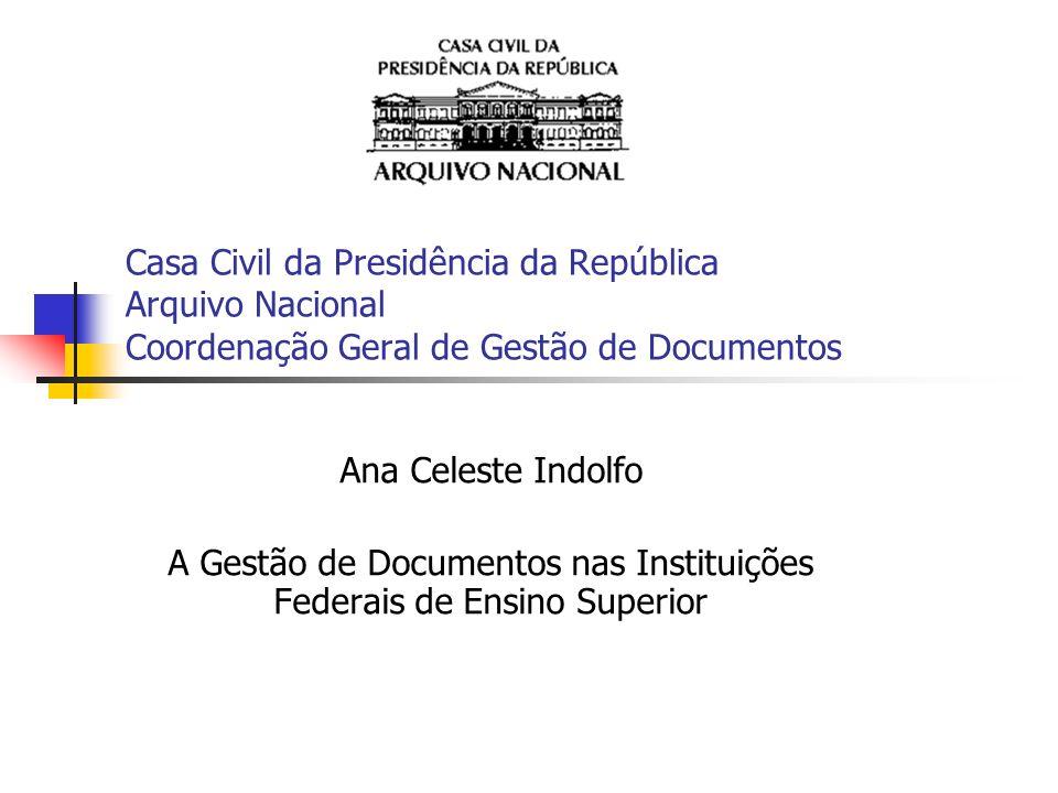 A Gestão de Documentos nas Instituições Federais de Ensino Superior