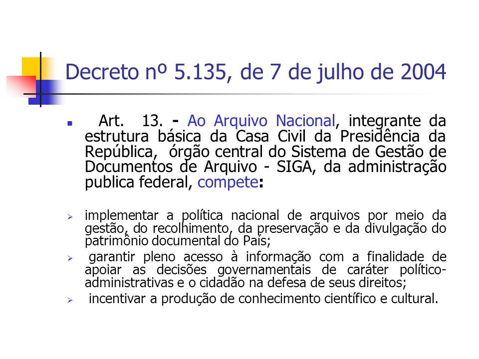 Decreto nº 5.135, de 7 de julho de 2004