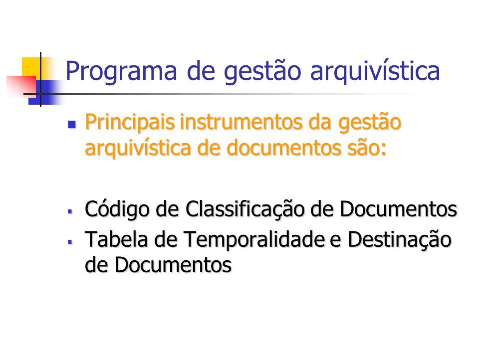 Programa de gestão arquivística
