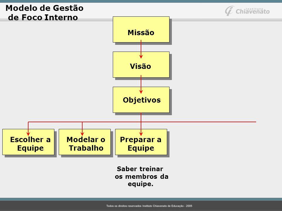 Modelo de Gestão de Foco Interno Missão Visão Objetivos