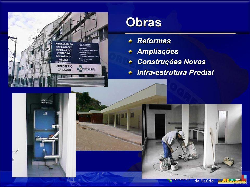 Obras Reformas Ampliações Construções Novas Infra-estrutura Predial