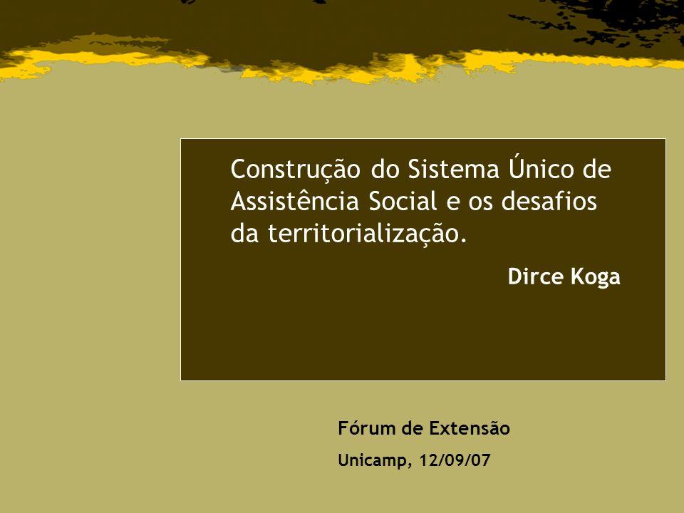 Construção do Sistema Único de Assistência Social e os desafios da territorialização.