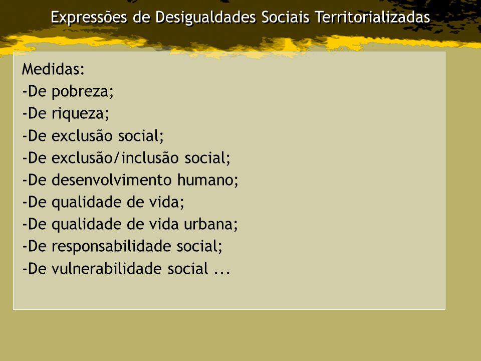 Expressões de Desigualdades Sociais Territorializadas