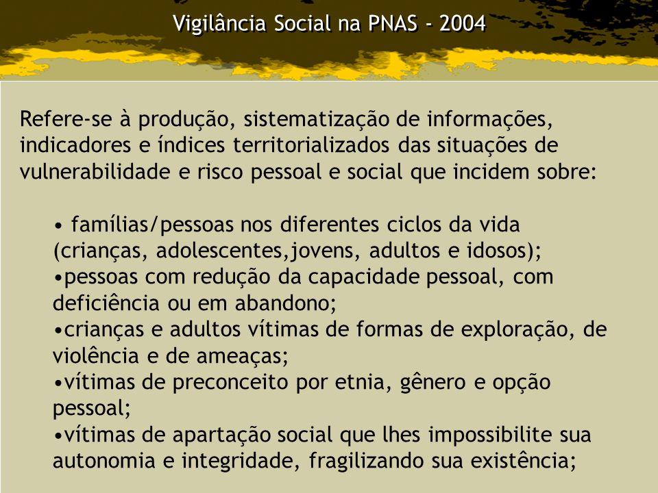 Vigilância Social na PNAS - 2004