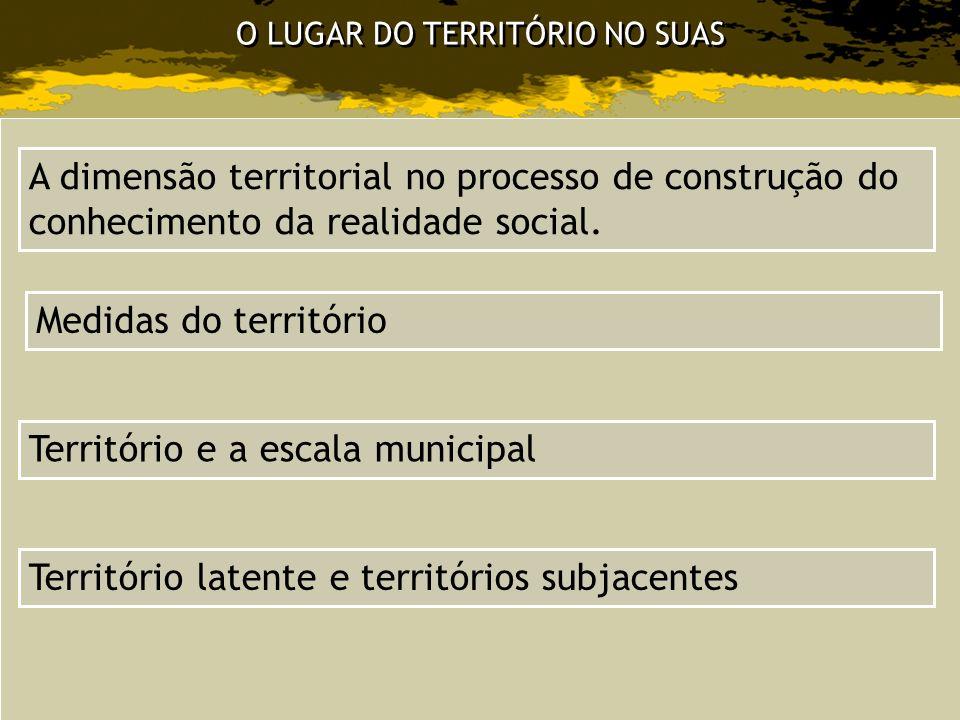 O LUGAR DO TERRITÓRIO NO SUAS